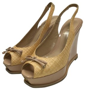 Fendi Beige Wedges