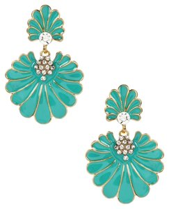 Amrita Singh NEW Dream Island Drop Deco Earrings, Turquoise, Austrian Crystals