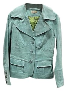 Wilson Leather Suede Leather Turquoise Leather Jacket