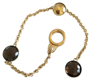 CHIMENTO CHIMENTO - SOLID 18K GOLD - SIGILLI BRACELET WITH SMOKY TOPAZ - CLIP ON CLASP