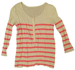 J.Crew Summer Striped Xs T Shirt Pink