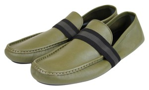 Gucci Green Men Driver Moccasin Loafer Viaggio Collection 9.5 G/Us 10 308992 3374 Shoes