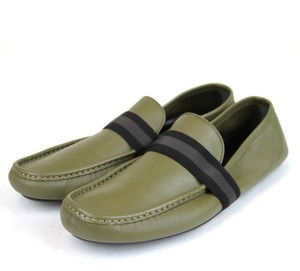 Gucci Green Men Driver Moccasin Loafer Viaggio Collection 10 G/Us 10.5 308992 3374 Shoes