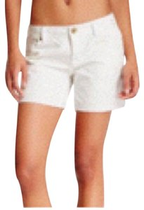 MEK DNM Cut Off Shorts White