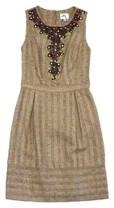 MILLY short dress Gold Tweed Embellished on Tradesy