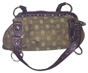 Kathy Van Zeeland Satchel in Brown and Purple
