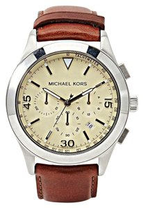Michael Kors Michael Kors Men's Gareth Brown Leather Chronograph Watch - MK8449