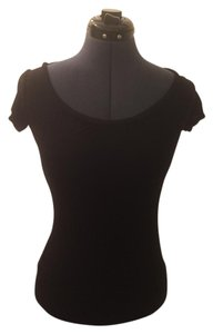 Moda International Backless Shirt T Shirt Black