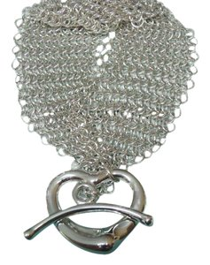 Tiffany & Co. Tiffany & Co Elsa Peretti mesh open heart togggle bracelet 7.25