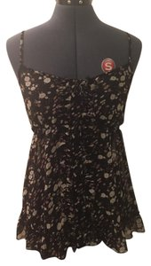 Express Floral Top Black floral