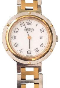 Hermès Timeless HERMES Clipper 18K yellow gold and SS, Larger Model, Excellent