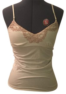 Express Cami Cream Cami Top Cream/white with pink lace at neckline