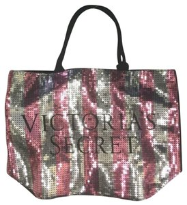Victoria's Secret Sequin Tote in pink and black