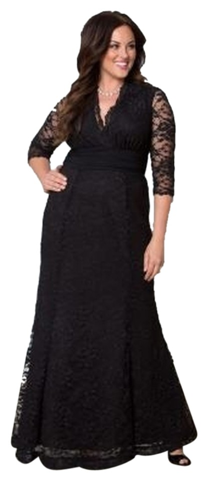 7cb6c65408f35 Kiyonna Onyx Screen Siren Lace Gown Formal Dress Size 26 (Plus 3x ...