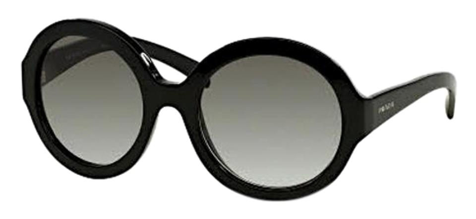 d68c4c5247e1 Prada Black with Grey Gradient Lens Oversized Round