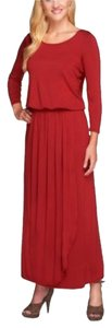 Burgundy Maxi Dress by Nicole Richie Collection
