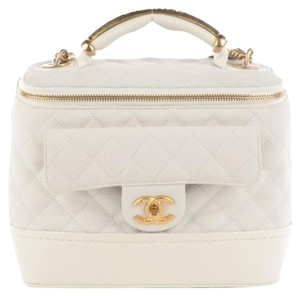 Chanel Vanity Gold Shoulder Bag