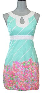Lilly Pulitzer short dress Sand Bar Blue Crash Landing on Tradesy