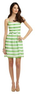 Lilly Pulitzer short dress Green and white striped on Tradesy
