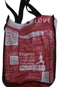 Lululemon Tote in Red White & Black