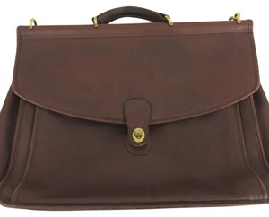 Coach Leather Brief Case Messenger Business Laptop Bag