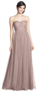Jenny Yoo Bridal Bridesmaid Wedding Prom Taupe Dress