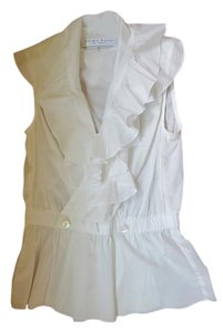 Trina Turk Sleeveless Top Off White