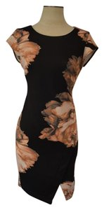 Catherine Malandrino short dress Black/floral on Tradesy