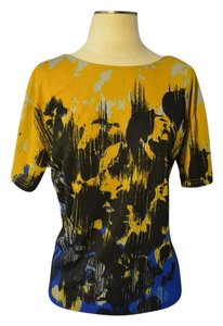 Kenneth Cole Top Mustard/Blue/Black