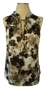 Kenar Top Dark brown/off-white floral