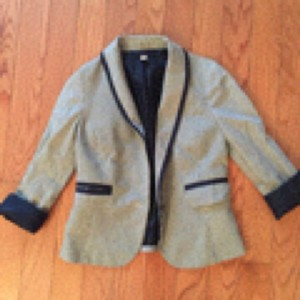 Lux Blue, cream Blazer