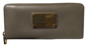 Marc by Marc Jacobs Leather Zip Around Taupe Clutch
