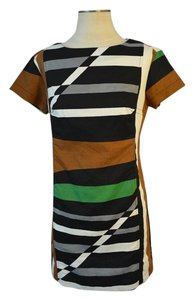 Derek Lam for Design Nation short dress Black/Brown/Grey/Green on Tradesy