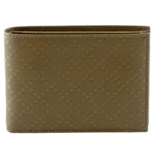 Gucci GUCCI 292534 Men's Diamante Leather Bi-fold Wallet
