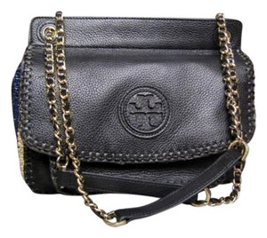 Tory Burch Marion Saddle Straw Shoulder Bag