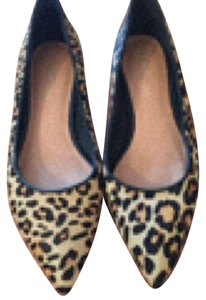 Maiden Lane Black, leopard Flats