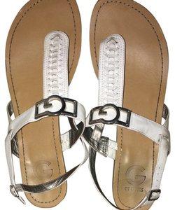 Guess White Sandals