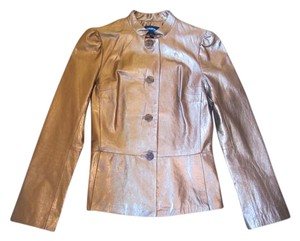 Till the End Leather Silk Nordstrom Gold Leather Jacket