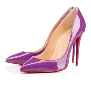 Christian Louboutin Stiletto Leather Patent Patent Leather Purple Pumps
