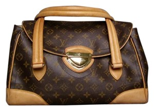 Louis Vuitton Monogram Canvas Beverly Gm Satchel in Brown
