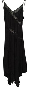 Black Maxi Dress by Urban Outfitters Silk Lace
