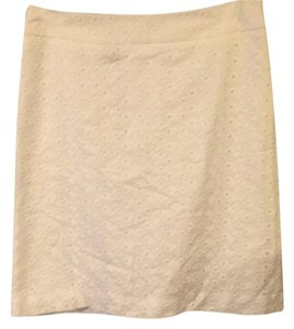 Brooks Brothers Lace Skirt White