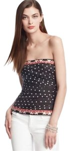 White House | Black Market Bustier Polka Dot Top
