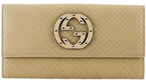 Gucci GUCCI 231839 Women's Studded Diamante Leather Continental Wallet