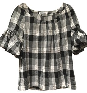 Christopher Deane Black And White Flannel Top