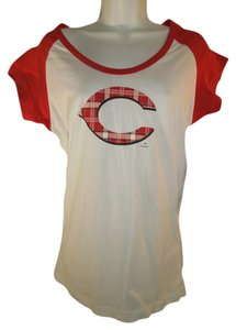 Sideline Apparel Cincinnati Reds Short Sleeve Womens Fan Wear Sz S/m T Shirt Multi Color