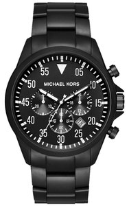 Michael Kors NWT Michael Kors Men's MK8414 Chronograph Gage Black Ion-Plated Steel Watch