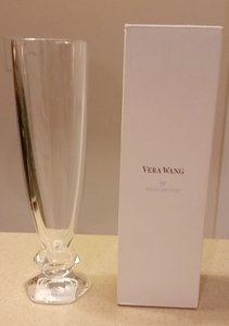 Vera Wang Wedgwood Orient Crystal Glass Flower Vase