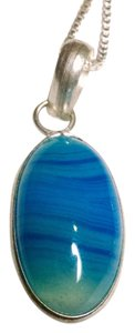Other New Agate Gemstone Set Sterling Silver Pendant Necklace J616
