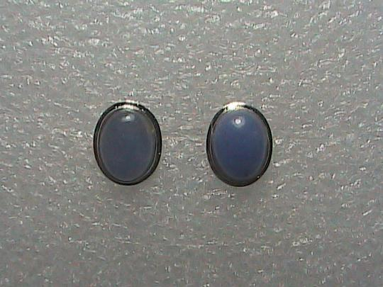 Unknown Sterling Silver Lavender Jade Stud Earrings